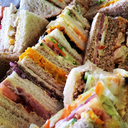 mixed,flavour,sandwich,platter,garnish,chesterfield,derbyshire